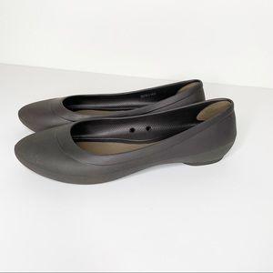 Crocs Ionic Comfort Brown Pointed Toe Flats